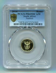 PCGS-Secure-South-Africa-2014-Sunbird-Proof69dcam-Proof-Gold-Coin-Stunning