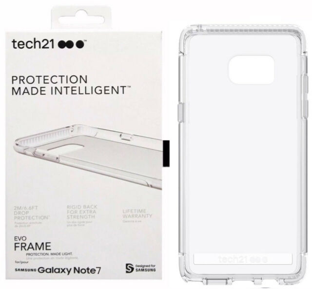 hot sale online 89865 c0370 tech21 EVO Frame Protection Case Cover for Samsung Galaxy Note 7 Te6