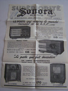 Publicite , Superiorite Sonora , Radio Le Specialiste Ses Postes ...toutes Ondes V9dm4npz-08005146-163075529