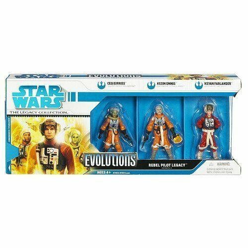 Star Wars 3.75 Clone Wars Evolutions Pack Rebel Pilots Legacy  2 3-Pack
