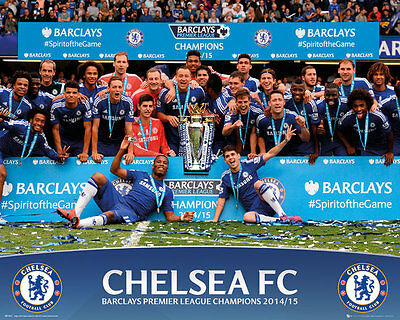 "CHELSEA FC MINI  POSTER ""FULLY LICENSED"" BRAND NEW ""2015 PREMIER LEAGUE WINNERS"""