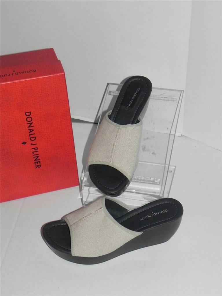 Donald Pliner Casa Natural Elastic Band Slide-On Open Wedge Platform Sandale 10