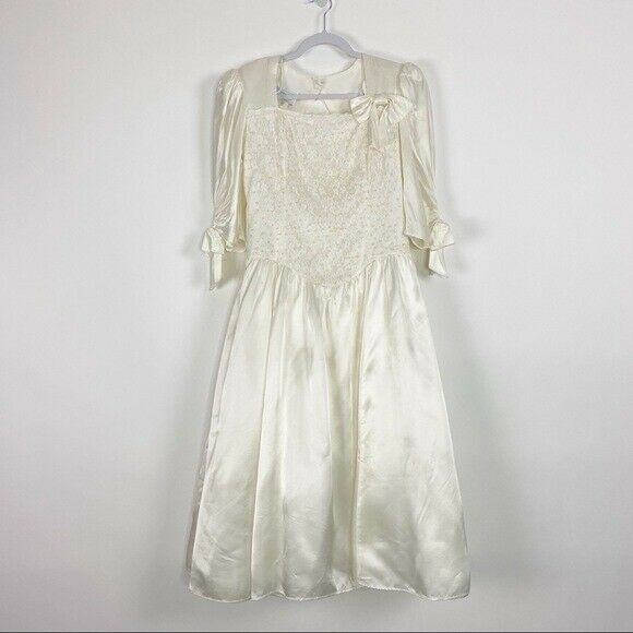GUNNE SAX Jessica McClintock Size M Vintage White… - image 3