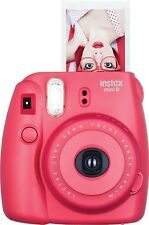 Fuji Instax Mini 8 Fujifilm Instant Film Camera Raspberry - Used ONCE!