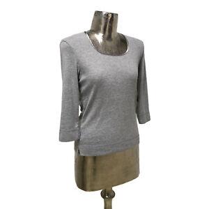 Poppy Top T-Shirt Grey UK M 12 (EU40) NEW 3/4 Sleeve Women's RRP £23