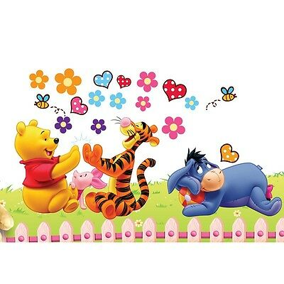 DIY Winnie The Pooh Wall Sticker kIDS Baby Room Decor Removable Vinyl decals xa