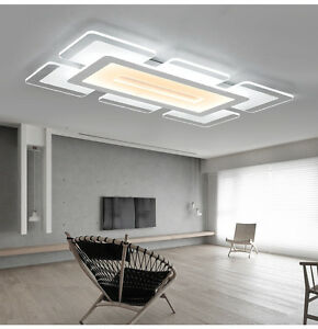 Wonderful Image Is Loading Rectangular Acrylic Modern LED Ceiling Light Living Room