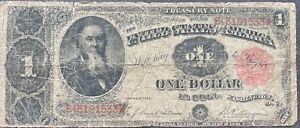 USA-1-Dollar-1891-Banknote-Large-Size-US-Treasury-Note-Schein-1-One-25296