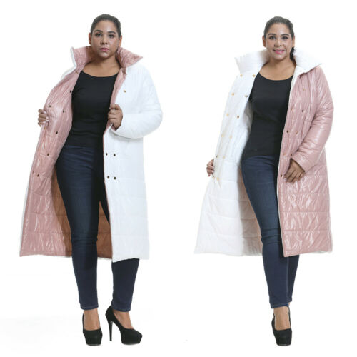 UK Womens Long Coat Parka Winter Warm Padded Quilted Jacket Overcoats Outwear