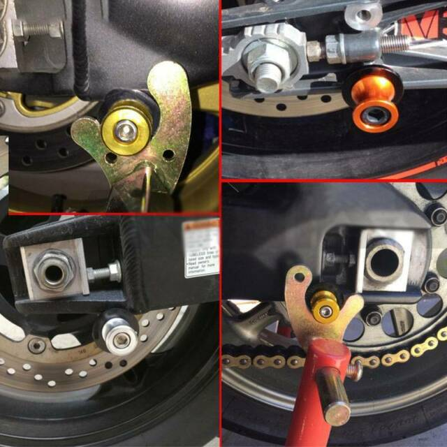Fit For Kawasaki ZX-10R 2004-2010 10mm POM Swing Arm Spools Slider Stand Bobbins