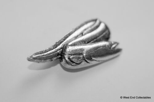 River Conger Eel Fish Pewter Pin Brooch Fishing Gift Present British Handmade