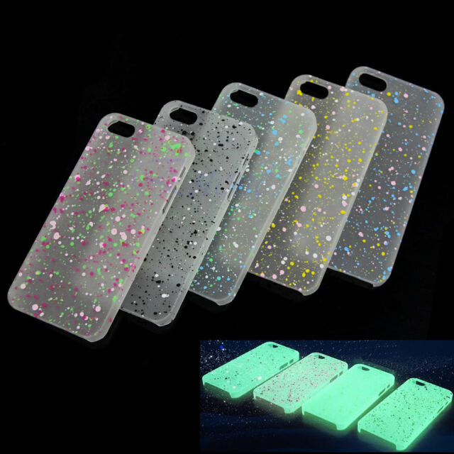 For iPhone 4G 4S Glow in Dark Luminous Cute Color Hard Back Case Cover Skin