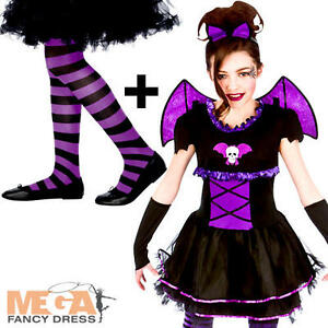 Image is loading Batty-V&ire-Ballerina-Tights-Girls-Fancy-Dress-Kids-  sc 1 st  eBay & Batty Vampire Ballerina + Tights Girls Fancy Dress Kids Halloween ...