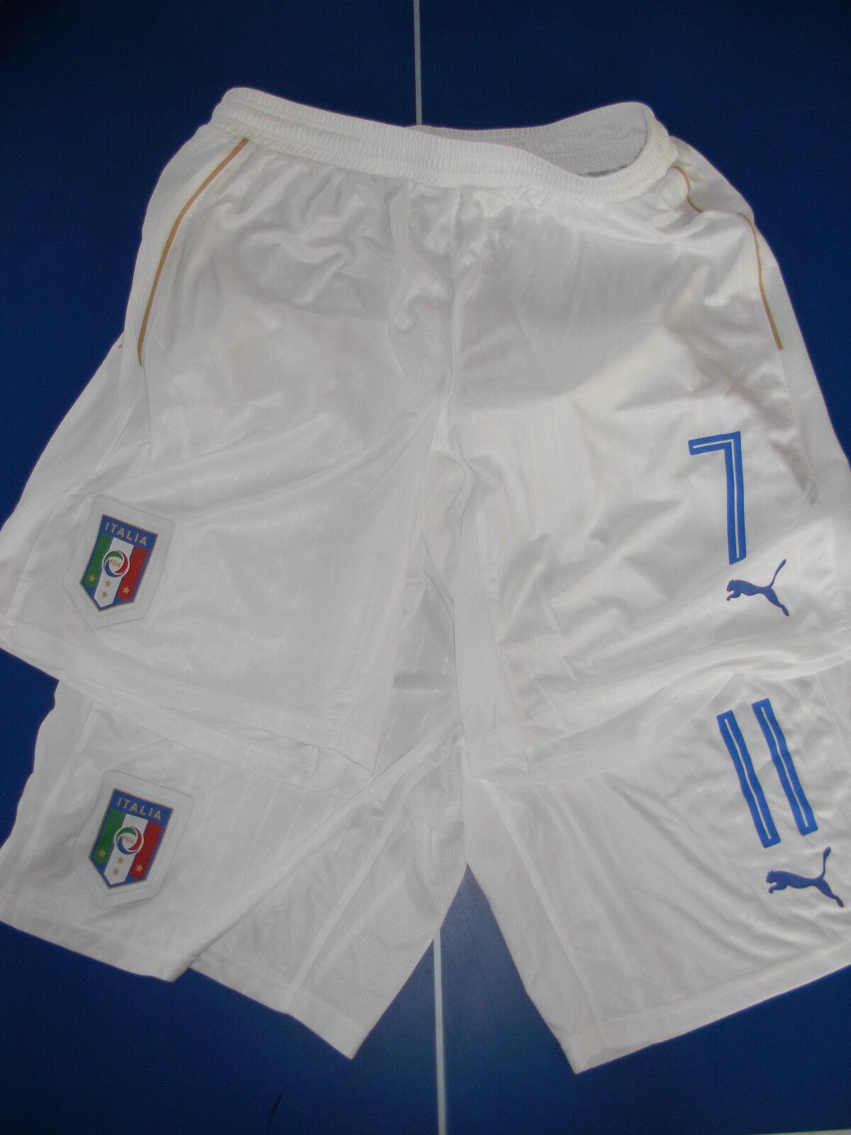No maglia 2 short calcio italia puma match worn usato Dimensione L-XL nr 7  e 11