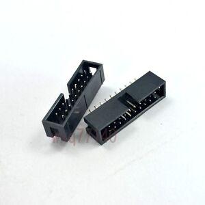 10pcs-2-54mm-2x10-20-Pin-Straight-Male-Shrouded-IDC-Box-Header-Connector-Socket