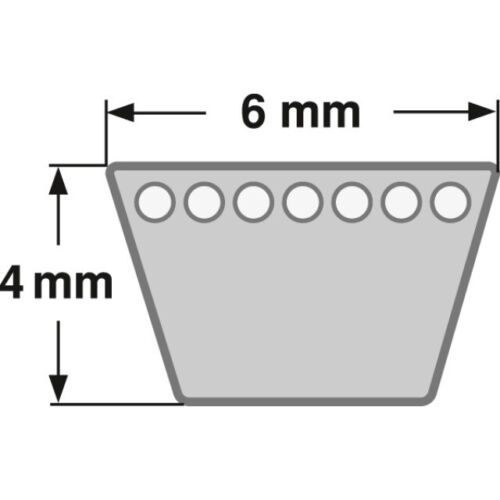 Keilriemen Profil 6 x 4 mm nach DIN2215  400mm 850 mm