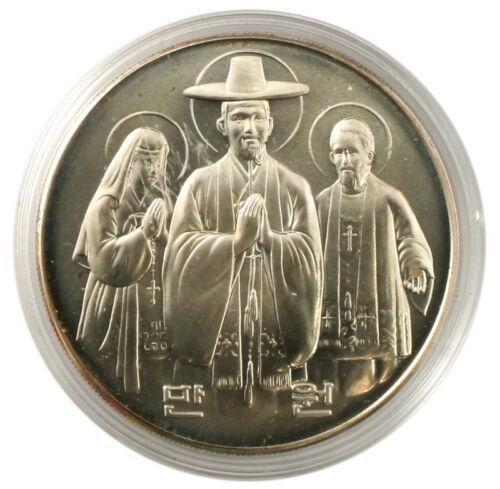Korea-South 1984 Silver Coin UNC 200Years of Catholic Church in Korea 10000Won