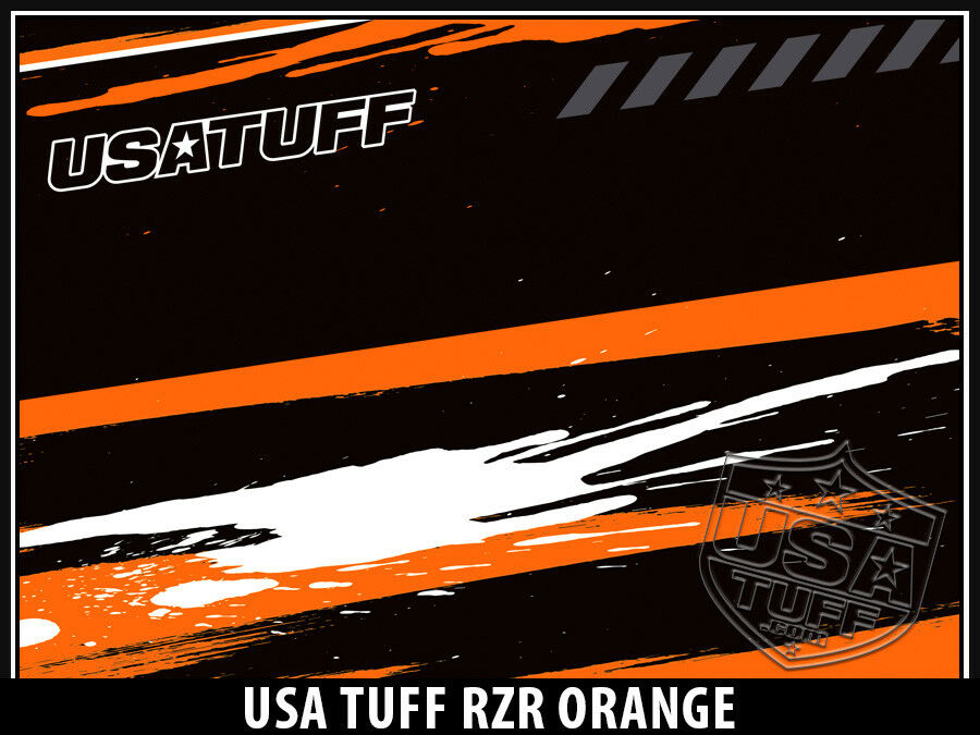 USATuff Custom Decal Cooler Decal Custom Wrap fits YETI Tundra 110qt L+I RZR SxS Ornge 43a90a
