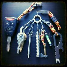 Mini EDC Gear Pocket Suspension Clip Hanger Tool with Key Ring Keychain Keyfob