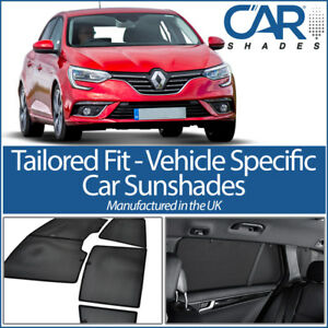 Renault-Megane-5dr-2016-gt-UV-CAR-SHADES-WINDOW-SUN-BLINDS-PRIVACY-GLASS-TINT