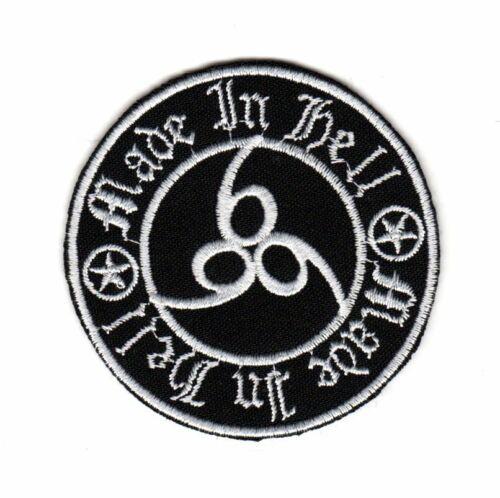 Biker Motorcycle Heavy Metal Rocker Patch Satan Devil Number 666 Made in Hell