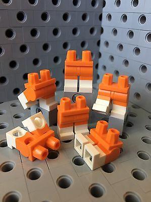 Lego 6  Leg  Legs Lower Parts For Minifigure Figure White