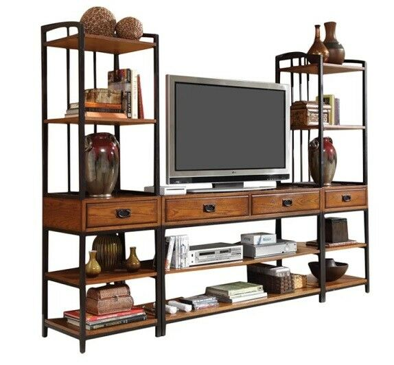 Tv Stand 2 Tower Distressed