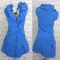 NEU Kleid Lange Weste Tunika Longshirt GLAMZ FRANSTYLE Blau Gr. 48 (R1448N)