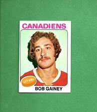 1975 Topps Hockey Set BOB GAINEY Card NO. 278