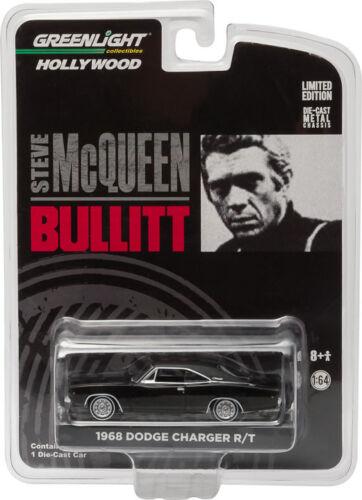 Greenlight 1//64 Steve McQueen BULLITT 1968 Dodge Charger R//T HOLLYWOOD 44741