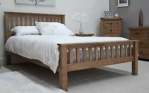 Details about Brooklyn solid oak bedroom furniture 4\'6 double bed