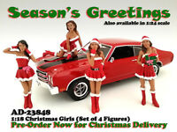 Christmas Girls 4pc Figure Set For 1:18 Scale Models By American Diorama 23848