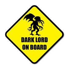 DARK LORD ON BOARD- Cthulhu Funny Monster Car Vinyl Sticker Decal