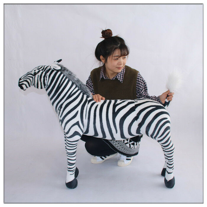 Giant Hung Big Lifelike Zebra Simulation Soft Toy Doll Plush Stuffed Animal gift
