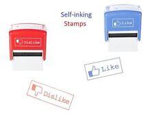 Like Dislike Social Media Self Ink Rubber Stamp Gift Joke Teacher Student Prank