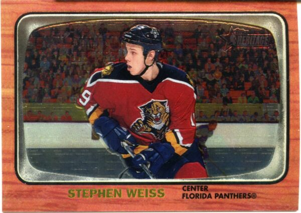 633e8e8077d 2002-03 Topps Heritage Chrome Stephen Weiss Card 545 667 Florida Panthers