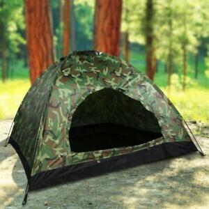 Details about 2-4 Person Outdoor Camping Waterproof 4 Season Folding Tent  Camouflage Hiking