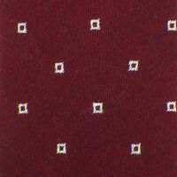 Nicky Burgundy Ivory Squares Cashmere Blend Woven Tie