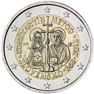 2 euro coin Slovakia 2013  Constantine and Methodius