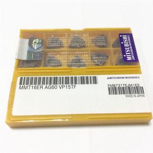 10 pcs MITSUBISHI Carbide Threading inserts MMT 16 ER AG60 MMT16ER Grade US735