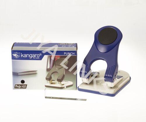 Kangaro Heavy Duty all metal construction 2 Hole punch perforateur 60 feuilles bleu