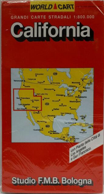 CARTA STRADALE CALIFORNIA -STUDIO FMB-