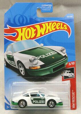 2019 Hot Wheels #122 HW Rescue Series White /'71  Porsche 911