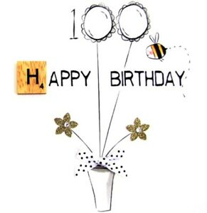 Image Is Loading 100th Birthday Bexyboo Scrabbley Neon Card Handmade