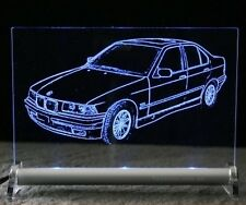 Autogravur BMW E36 3er LED 316 318 320 328 auf Schild