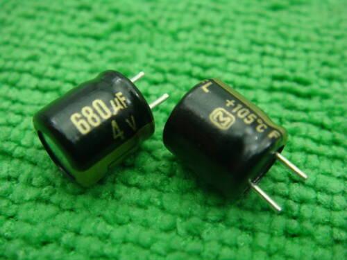 10 Panasonic FL Capacitors 680uf 4v 105C OEM New