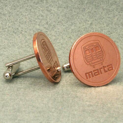 Atlanta Vintage Transit Token Cufflinks MARTA Bronze