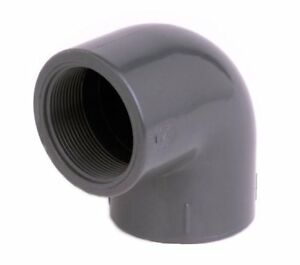 32mm OD PVC Pressure Pipe Fittings Grey Metric Solvent Weld WRAS Approved