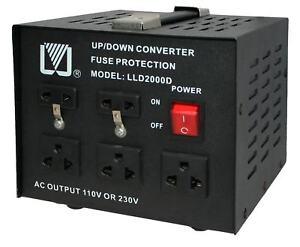 2000W-Spannungswandler-230-110-Volt-Converter-USA-Wandler-Step-up-Step-down-NEU