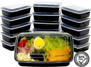 16 28oz 1 Compartment Meal Prep Food Storage Containers Lunch Bento